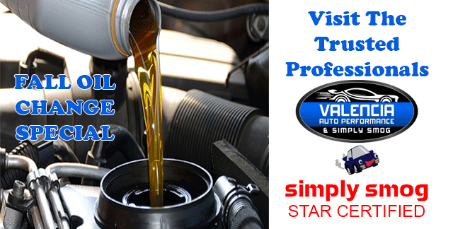 Valencia Auto Performance | Change Oil Every 3,000 – 10,000 miles
