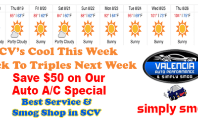 Save $50 on Our Auto A/C System Check   Valencia Auto Performance