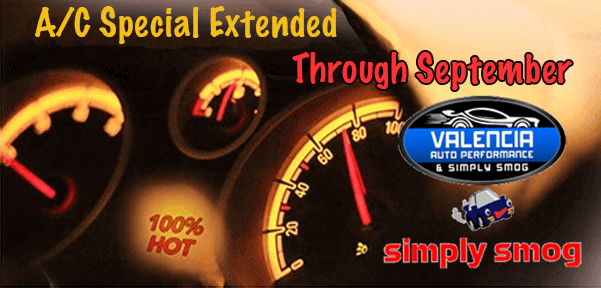 Auto A/C Special Extended | Valencia Auto Performance